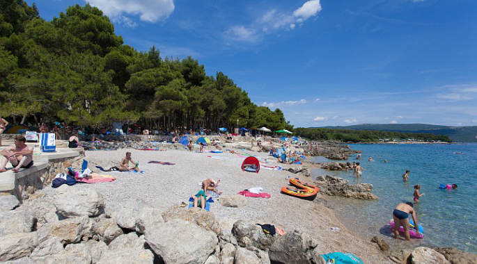 Krk Island Croatia  City pictures : Koralj beach is a fine pebble and gravel beach located east of the ...