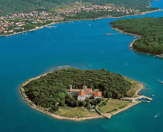 Krk Island - Punat bay and islet of Kosljun