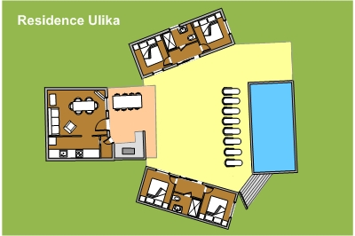 Mobile Home Residence Ulika Layout