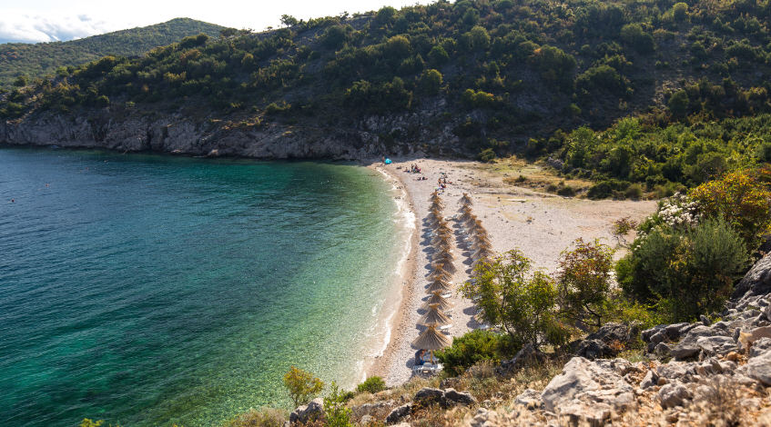 Beach Potovosce south of Vrbnik, Island of Krk